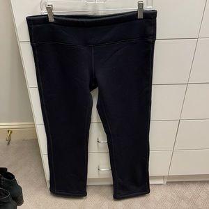 Athleta Black fleece straight leg pants